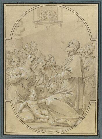 Saint Philippe de Neri rendant la vie à un enfant mourant