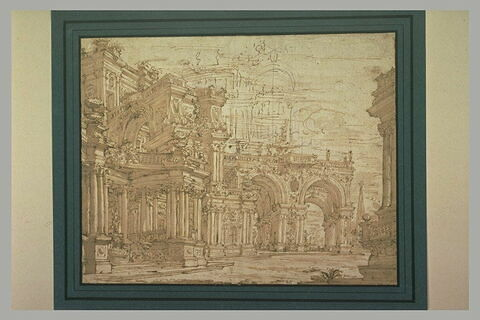Projet de galerie pour un palais, étude pour un décor