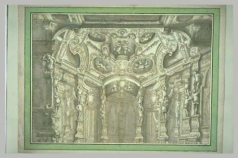 Décoration de théâtre : intérieur d'une galerie