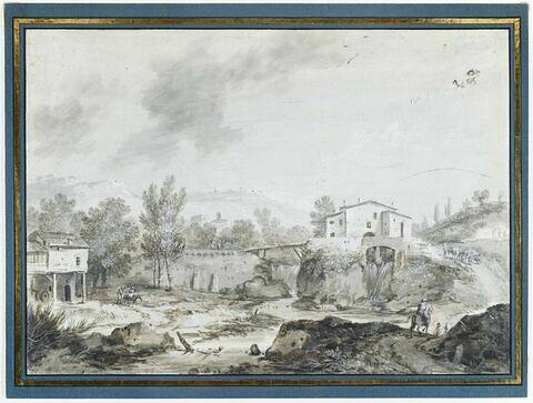 Paysage: vue de Pianoro, près de Bologne