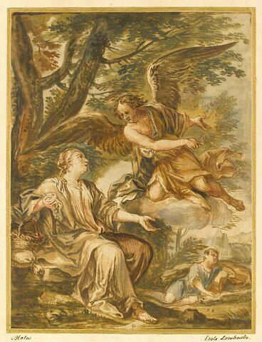Un ange apparaît à Agar et Ismaël