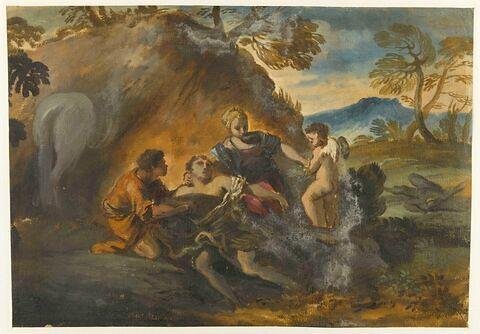 Tancrède secouru par Herminie