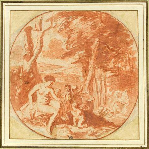 Vénus au bain entourée d'amours