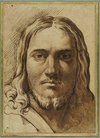 Tête du Christ, vu de face