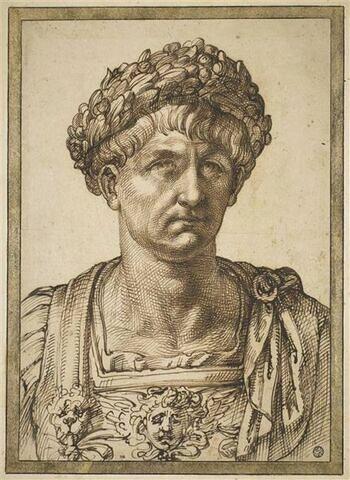 Buste d'un César, vu de face