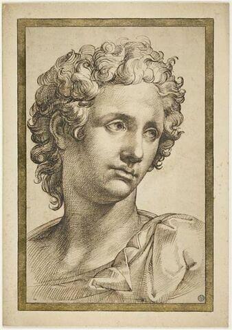 Buste d'un jeune homme, vu de trois quarts vers la droite