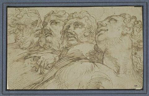 Groupe de quatre têtes