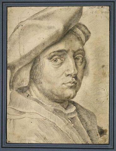 Portrait d'Andrea del Sarto, vu de trois quarts et tourné vers la droite