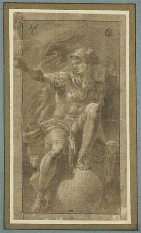 Guerrier vêtu à l'antique, le pied posé sur une sphère : Scipion (?)