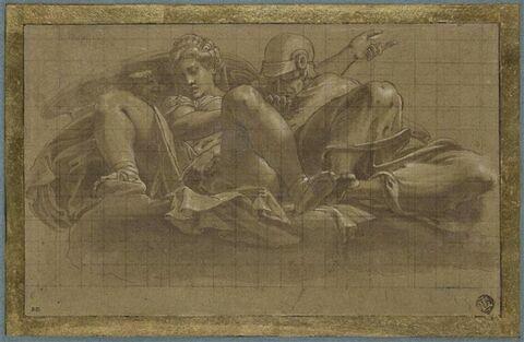 Mars, Vénus et l'Amour sur des nuées