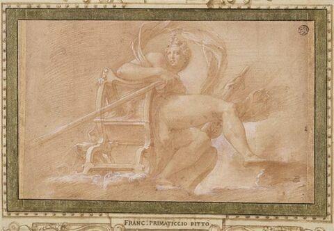 Vénus assise dans les nuées