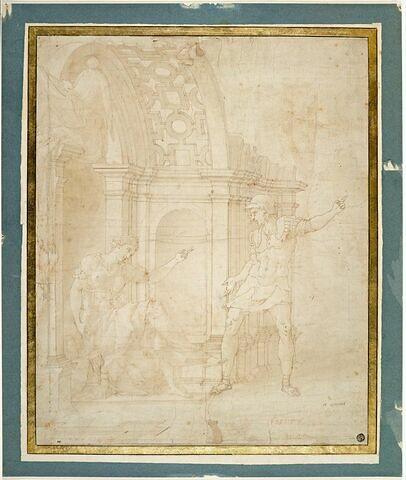Hippolyte repoussant l'amour de Phèdre