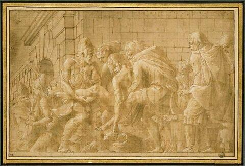 Hector blessé sous les murs de Troie