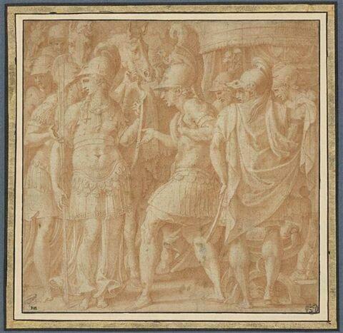 Alexandre accueillant Thalestris et les Amazones