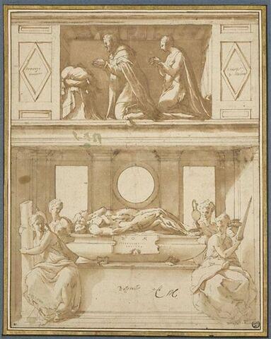 Projet de tombeau pour Claude de Lorraine et Antoinette de Bourbon