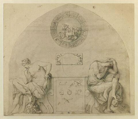 Projet pour une horloge avec les signes du zodiaque