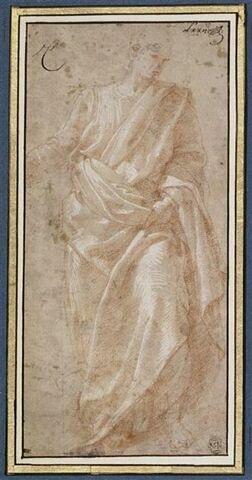 Étude de drapé pour saint Paul
