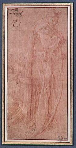 Figure drapée debout