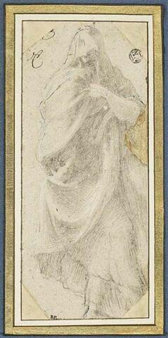 Figure drapée, debout, regardant vers la gauche