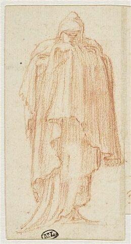 Figure drapée, debout, vue de face