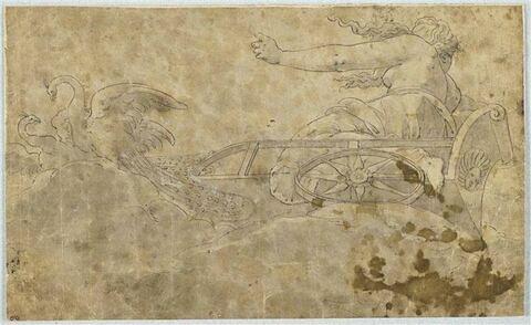 Junon sur son char conduit par des paons