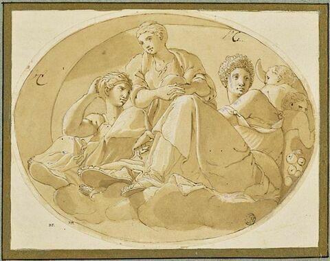 Cérès, deux amours et deux déesses