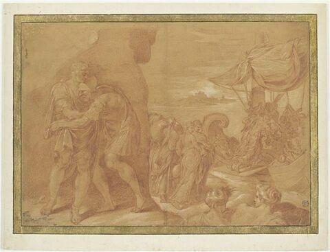 Ulysse prenant congé d'Alcinoos