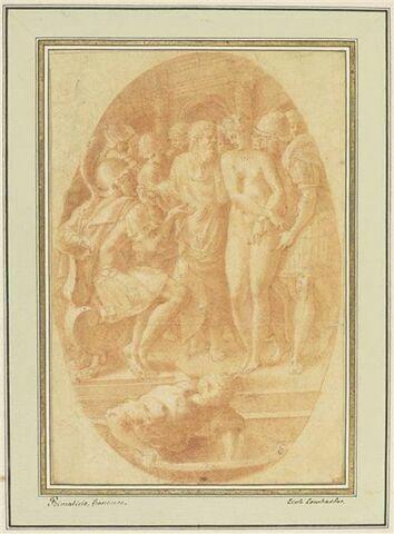 Timoclée nue amenée devant Alexandre