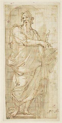 Saint Paul debout, dans une niche