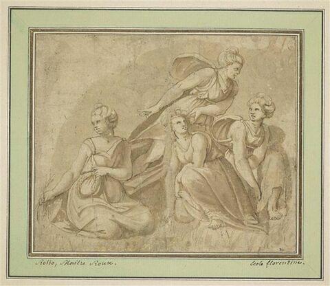 Perséphone cueillant des fleurs en compagnie des nymphes