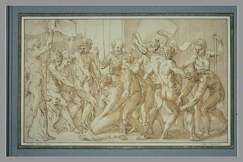 Scène d'histoire antique : Atalante vaincue à la course ?