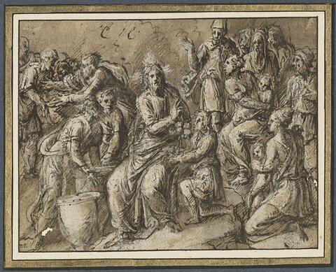 Le Christ bénissant les cinq petits pains