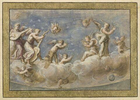 Un concert d'anges sur des nuages