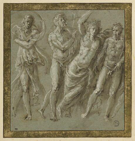 Quatre personnages, d'après un bas-relief antique