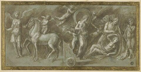 Femme tombée d'un char conduit par une Victoire, d'après l'antique