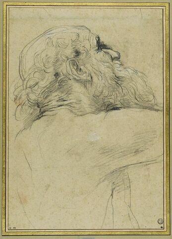 Etude pour saint André, en buste, de profil