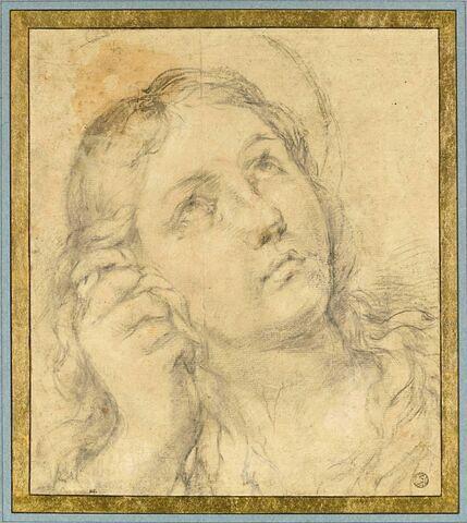 Tête de sainte Madeleine, les yeux au ciel
