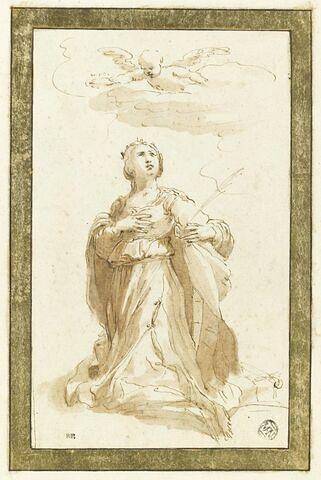Sainte Catherine d'Alexandrie en prières