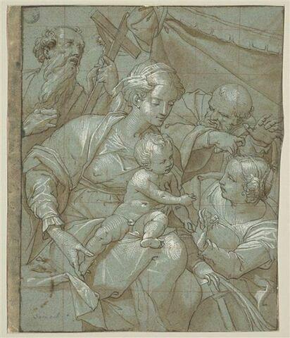 Vierge à l'Enfant avec saint Jérôme, saint Joseph et sainte Catherine