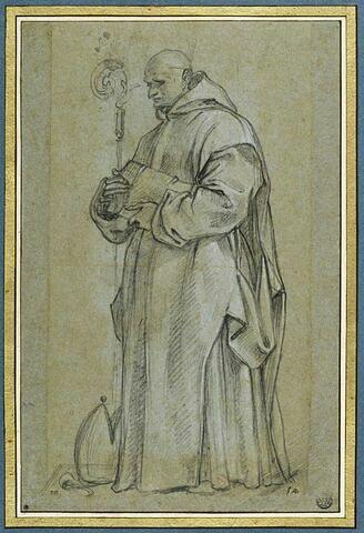 Saint Bruno, une crosse dans la main droite