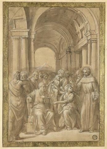 Saint Antoine de Padoue et le miracle du nouveau-né