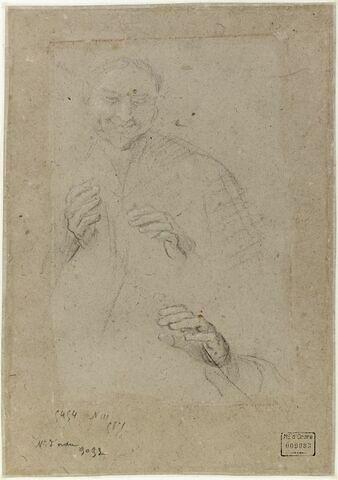 Homme souriant, et reprise de la main droite