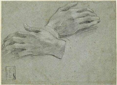 Etude des mains de saint François