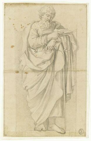 Saint Paul, appuyé sur son épée, lisant