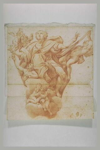 Saint Jean entouré d'anges et de son aigle