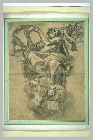 Saint Luc évangéliste entouré d'anges