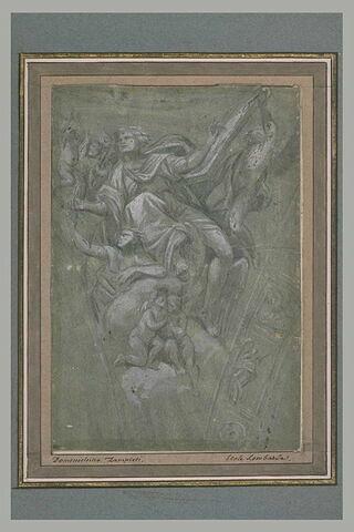 Saint Matthieu entouré d'anges, inscrit dans un pendentif