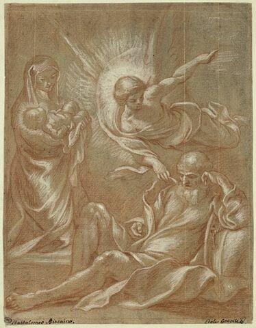 L'ange incitant saint Joseph, pendant son sommeil, à fuir en Egypte
