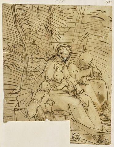 Repos de la Sainte Famille, avec le petit saint Jean