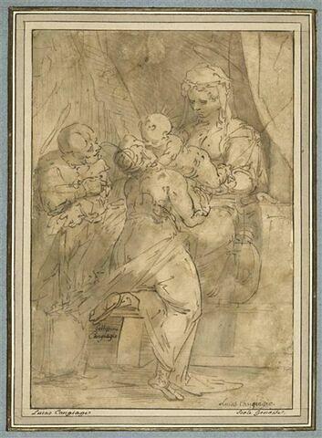 La Sainte Famille avec sainte Catherine